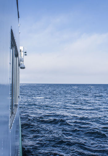 Sea Water Sky Horizon Horizon Over Water Scenics - Nature Nautical Vessel Beauty In Nature Transportation Mode Of Transportation Cloud - Sky Nature Day No People Ship Outdoors Passenger Craft
