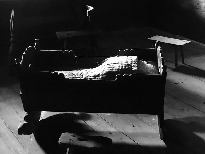 Birthplace Birthplace 💕 Austrianphotographers Blackandwhite Blackandwhite Photography Close-up Cradle  Day Indoors  No People Old Living Old Living Room