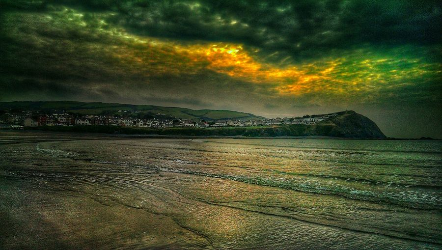 Borth, Wales Borth Colour Explosion Hdr Edit Surfer Dude Shooting The Surfers Sunday... ❤ My Son!! Heavy Edits Coast Seaside_collection Goldensky Cliff Cliffside Wales❤ Beach Life Seeing The Sights Mentioned in the doomsday book... The KIOMI Collection The City Light EyeEmNewHere Holiday Moments