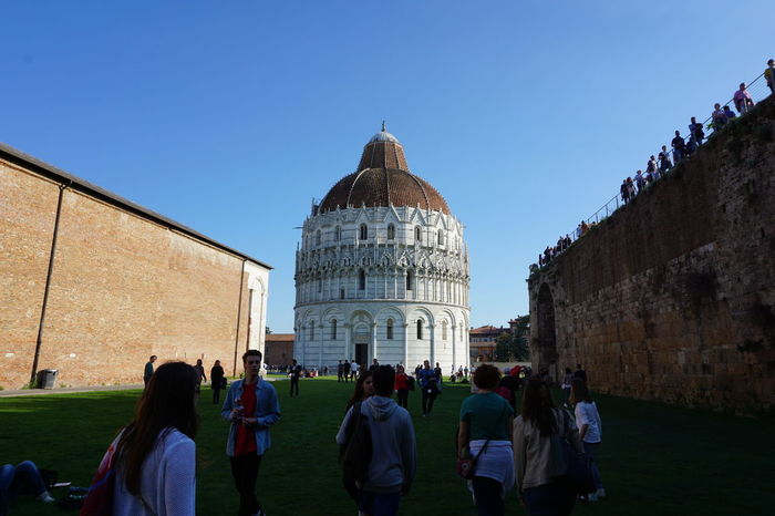 Pisa Pisa - Italy Beauty In Nature Tranquil Scene Summer Battistero  Piazza Dei Miracoli Travel Destinations Architecture History Built Structure Tourism Large Group Of People Travel Dome People Ancient Civilization Day Sky Outdoors