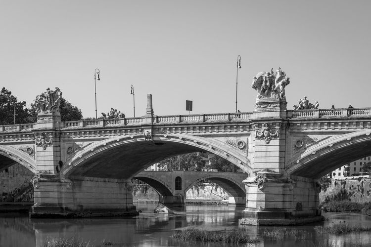 Above Arcade Arch Arch Bridge Arched Architectural Column Architecture Bridge Bridge - Man Made Structure Built Structure City City Life Clear Sky Connection Day Engineering Famous Place France History No People Outdoors River Transportation Water Waterfront