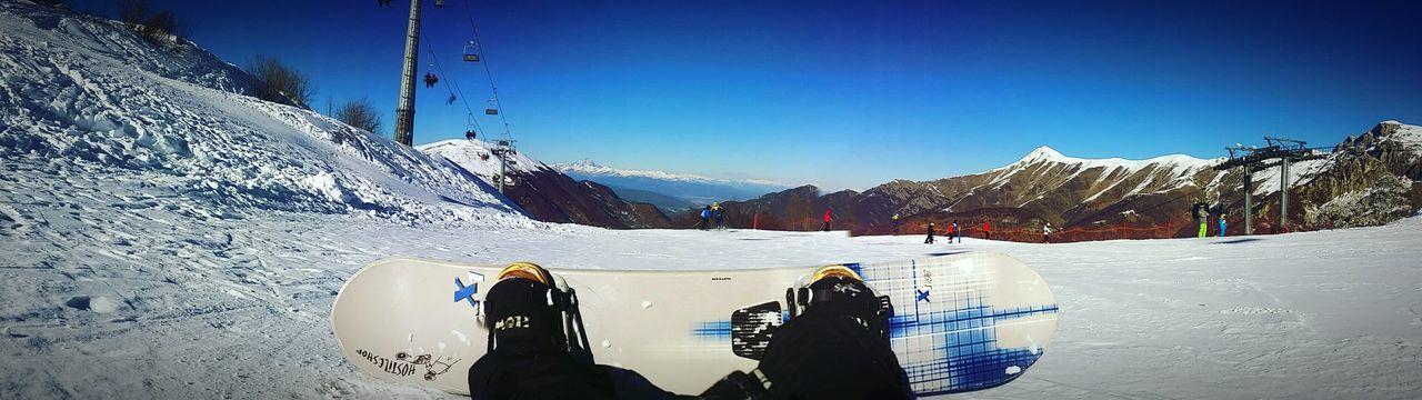 Snow Mountain Winter Sky Nature Day Cold Temperature Snow ❄ Snowboarding Snowboard Italy Italia Freestyle 1667mt Limonepiemonte Ski First Eyeem Photo