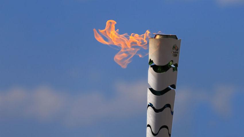 Flame Olimpiadas2016 Olimpic Games  Outdoors Rio De Janeiro Rio De Janeiro Eyeem Fotos Collection⛵ Sky Torchlight