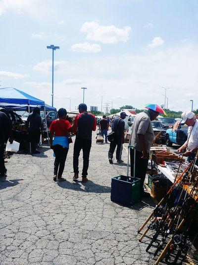Nice day at flea market Market Vendors Women Crowd Men Sky Cloud - Sky
