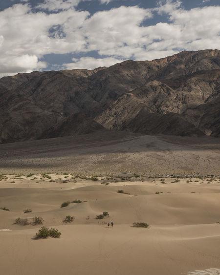 Sand against mountain