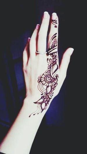 Super simple Simple Henna Henna Tattoo Hand