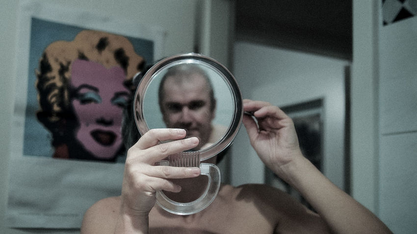 Selfie with Marylin Bathroom Selfie Close-up Focus On Foreground Glass Glass - Material Home Indoors  Marylin Monroe Mirror Mirrorselfie Person