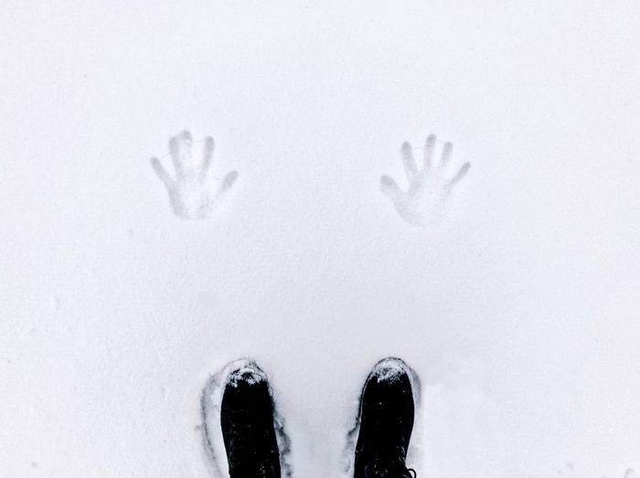 Frozen fingerprints ❄️... Black Boots Feetselfie Weather Season  Lifestyles ShotOnIphone Boots Texture Background White Palm Shape Human Body Part Shoe One Person Human Leg Personal Perspective Low Section Real People Cold Temperature High Angle View Standing Winter Nature Outdoors One Man Only Directly Above Close-up People Day