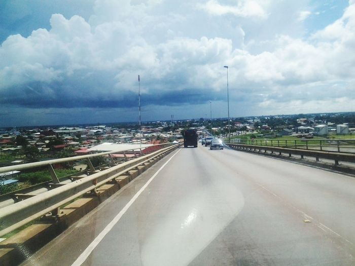 Suriname❤ Cityscape Road Speed Car Highway Sky Architecture Cloud - Sky