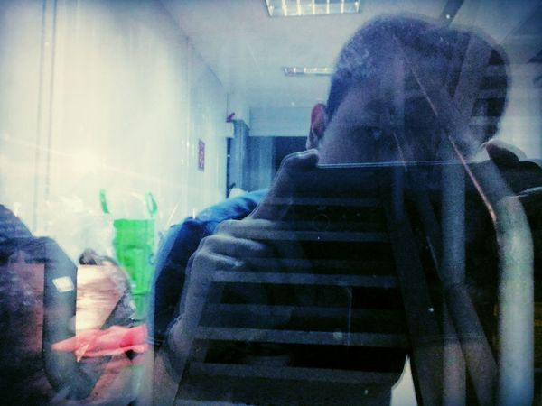 Me in the mirror ~ Real People Indoors  Adult Men One Person Fresh On Eyeem  EyeEm Masterclass Taking Random Pics First Eyeem Photo Randomshot Personal Perspective EyeEm EyeEmNewHere EyeEm Best Shots Blue Color Evening ~