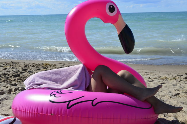 flamingo Beach Beauty In Nature Close-up Flamingo Grand Bend, Ontario Horizon Over Water Inflatable  Lake Huron Lake Huron, Canada Leisure Activity Lifebuoy Lifestyles Low Section Millennial Pink Nature Nautical Vessel One Person Outdoors Pink Real People Scenics Sea Sky Sunlight Water Live For The Story BYOPaper! Place Of Heart Sommergefühle