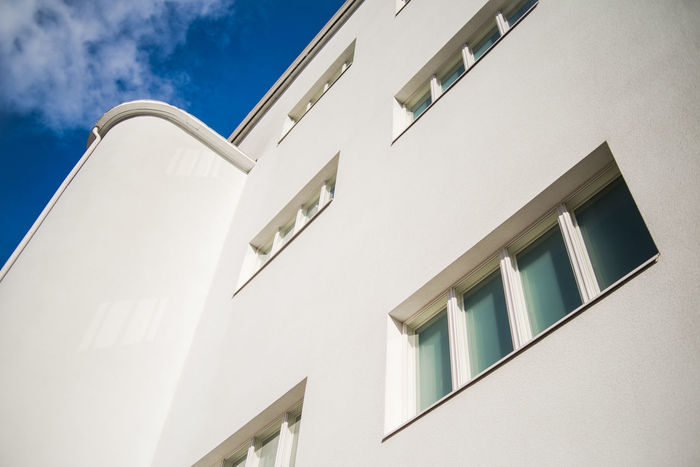 Finnish Architecture Hamina Wall Architecture Building Exterior Built Structure Constructivism Day Finnish Design Low Angle View No People Outdoors Sky White Window