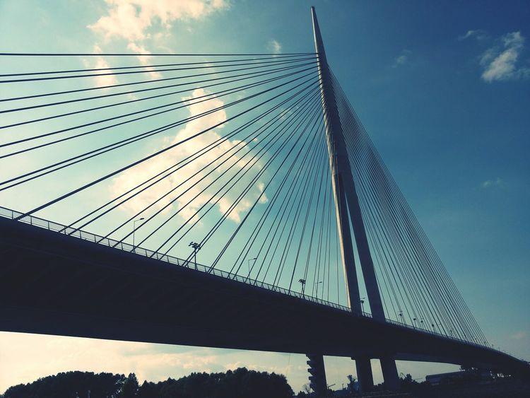 Most Na Adi Bridge Perspective at Belgrade,Serbia.
