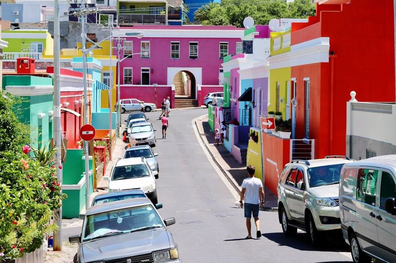 Building Exterior Architecture Day Outdoors City Walking Colorful Colors Bo-kaap Capetown South Africa Buildings