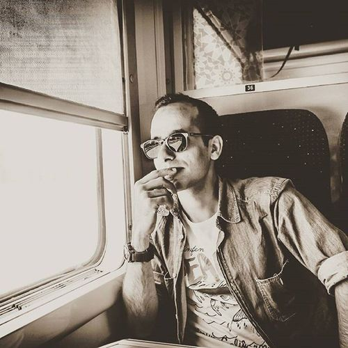 Train Muse Travel Blackandwhite Check This Out Thats Me  Traveling B&w Self Portrait Portaiture Trainphotography Popular Photos People