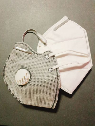 N95 mask for prevent pm 2.5 air pollution PM2.5 Lung Cancer Respiratory Therapy Unhealthy Hazard Tocic Paper Crumpled Paper Sack Textile Trapped Close-up