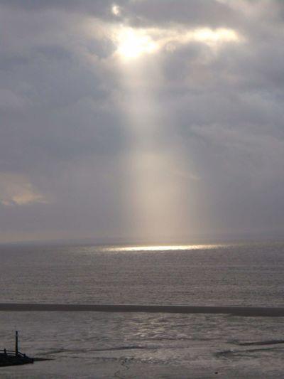 Show me the light. on a miserable grey dayMorecambeMorecambe Bay  Lancashire UK Landscape Nature Photography [a:12782727]