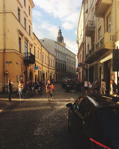 Krakow Architecture Kraków, Poland Transportation Bicycling Women On Bicycle Street Road City Sunset City Old City Streets People On The Street Turistic Places Turists On The Street The Week On EyeEm