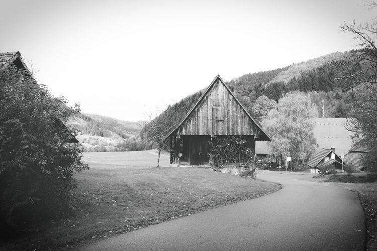 Breisgau Landschaft Rural Schwarzwald Vintage Style Black And White Gutach Landscape