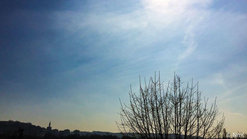 Et le Soleil☀️ chasse les nuages ⛅️ Matin Iphone6plus Iphone6+ Charente France CIELFIE Soleil