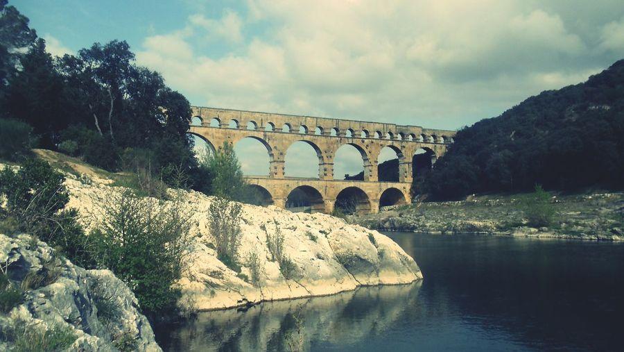 Pont du Guard Enjoying Life France Aquaduct South France Nimes France Architecture Historic Roman Ruins