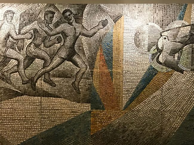 Mosaic of USSR time Architecture