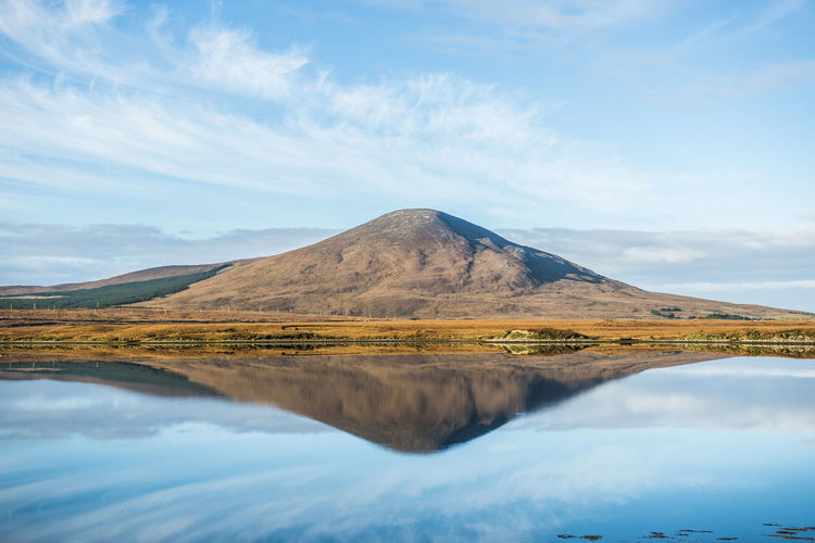 Barren Burning Distant Flame Geology Geometry Heat Horizontal Symmetry Ireland Landscape Majestic Mayo Mountain Mountain Range Non-urban Scene Outdoors Physical Geography Remote Scenics Symmetry Tranquil Scene Tranquility