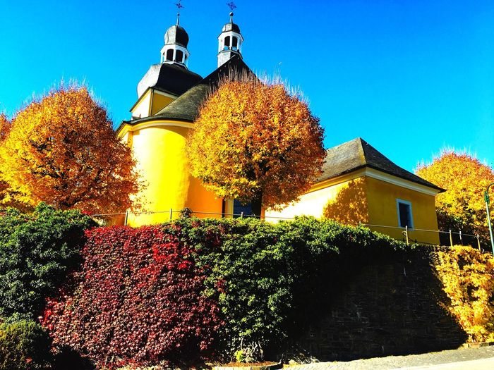 Church In The Sun Architecture Built Structure Building Exterior Building Sky Low Angle View Nature Autumn Mood