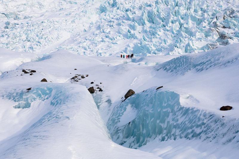 People on glacier