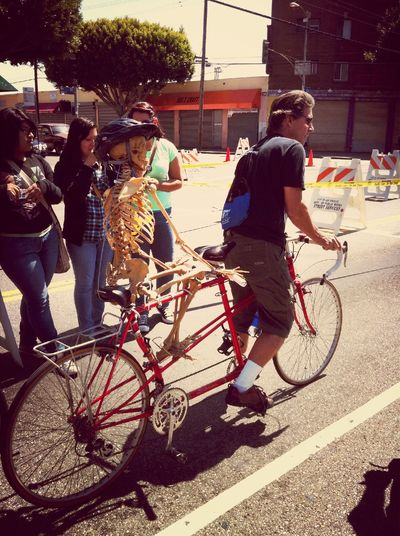 Bicycle CicLAVia Riding With Friends