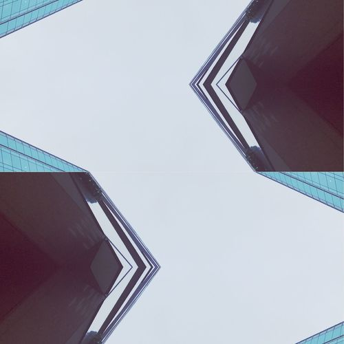 Minimalism Architecture Low Angle View Built Structure Sky Clear Sky Building Exterior No People Building Copy Space Pattern Skyscraper City Tall - High Tower Office 17.62°