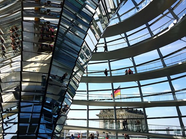 Berlin Germany Reichstag ReichstagBuilding Dome Architecture Reflections Modern Mitte Tourists NormanFoster ARCHITECT