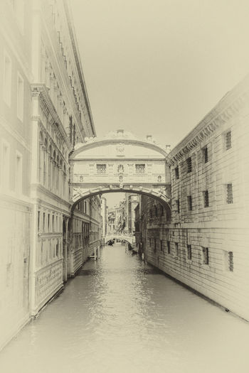 Arch Architecture Bridge Of Sighs Building Exterior Built Structure Italy Outdoors Sepia_collection Travel Destinations Venice