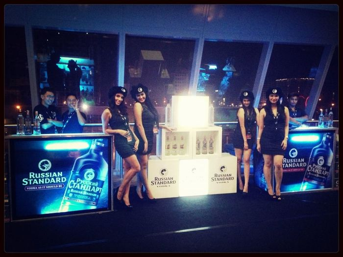 Our Russian Standard Vodka VIP Bar At The ONEFCMMA Event Last Night.