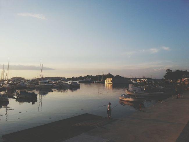 Harbour Sunset Seaside Yachts Paradise