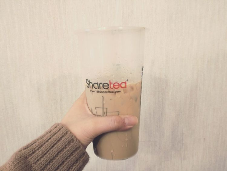 Finally comes to winter! ❤️ Wearinng my sweater but drinking iced coffee :pppp Winter ıced Coffee Share Tea Sharetea Sweater Brown Colour