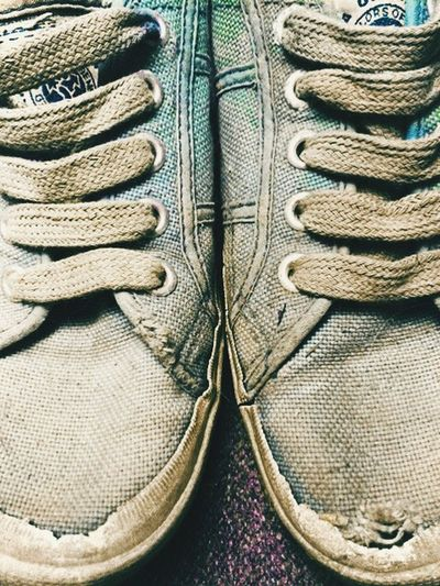 This pair of shoes are unwearable, possibly bin worthy, but are moulded to my feet. Had them since I was 13 years old- they are 21 years old. Old Shoes Unitedcoloursofbenetton Vintage
