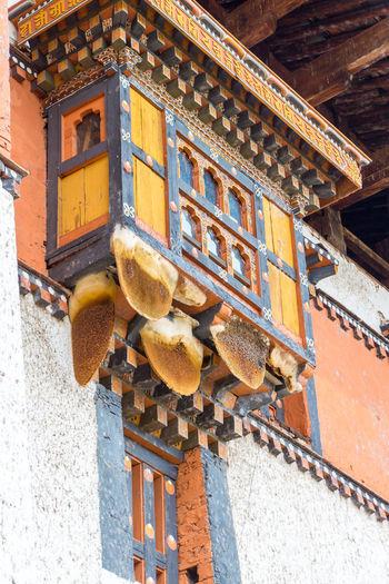ASIA Bees Dzong Animal Animal Themes Architecture Bee Hive Bhutan