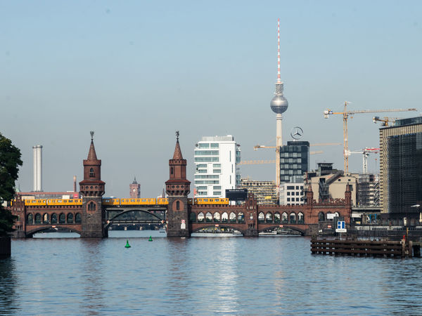 Berlin EyeEmNewHere Fernsehturm Friedrichshain Kreuzberg Architecture Building Exterior Built Structure Bvg Communication Day Nautical Vessel No People Outdoors River Sky Tall - High Television Tower Tourism Tower Travel Travel Destinations Water Waterfront Weilwirdichlieben