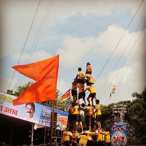 Dahihandi Dadar Friend Fun Flag Amazingclick Smallboy Climbingup Picoftheday Mumbai Mumbaikar Me Like Likeforlike F4F Mumbai_igers Mumbai_instagrammers Mumbai_mumbaikar