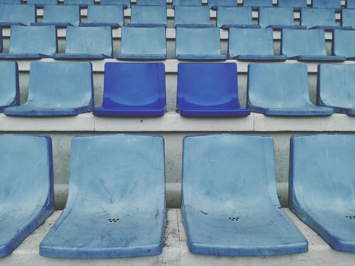Be different Blue Backgrounds Full Frame Outdoors Seats Pair Of Seats Honor6 Portugal Lisbon