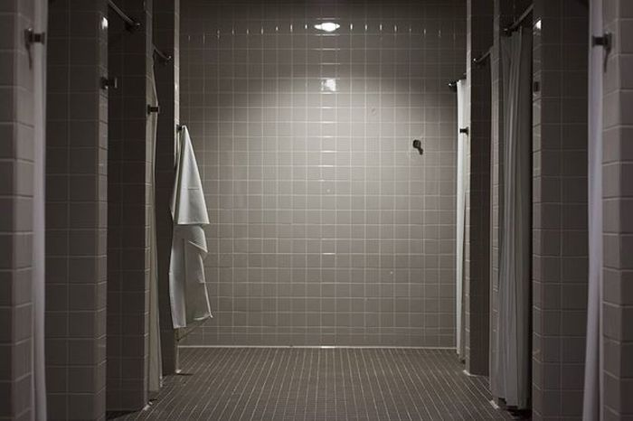 Day 97 of 366. 365project Nofilter Photography LockerRoom Showers Clean Perspective Towel Simple Minimalism Work