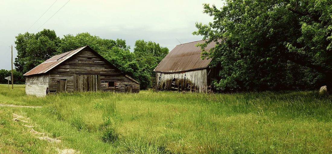 Old barns be side of the road. Memories Of A Brighter Day The Great Outdoors With Adobe Memories Farm Life Farmlandscape