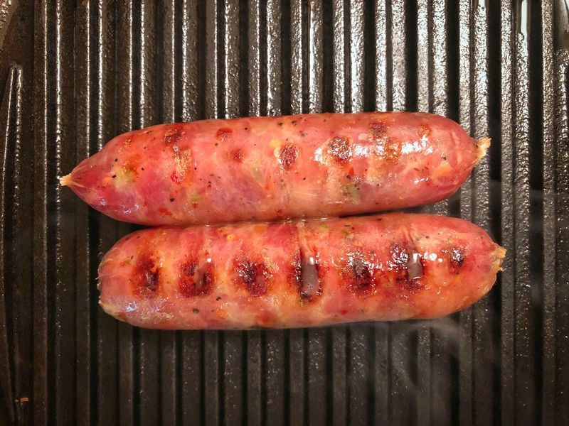 Thai sausage Thai Sausage Thai Food Food And Drink Food Meat Freshness Barbecue Grilled No People Close-up Barbecue Grill High Angle View Heat - Temperature Sausage Red
