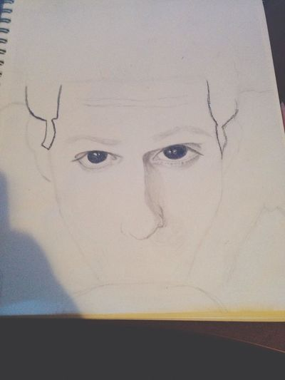 In the process of drawing the lead singer of my most favorite band, Jesse Rutherford from The Neighbourhood. I love Art.