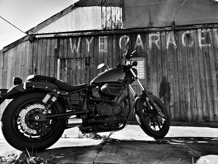 Why not...... 👍 Urbex Hello Darkness My Old Friend Blackandwhite Motorcycle Photography My Bike Ride Motorcycle Lover Motorcycleporn Mototcycle Photography Infront Land Vehicle Stationary Architecture Sky Built Structure Motorcycle Abandoned Run-down Weathered Biker Parking Damaged Deterioration