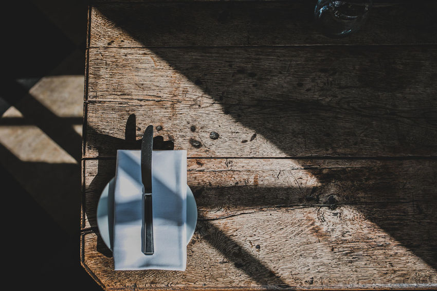 Architecture Building Exterior Built Structure Close-up Day Directly Above High Angle View Metal Nature No People Outdoors Shadow Still Life Stone Wall Sunlight Sunny Table Textured  Wall Wall - Building Feature Wood - Material