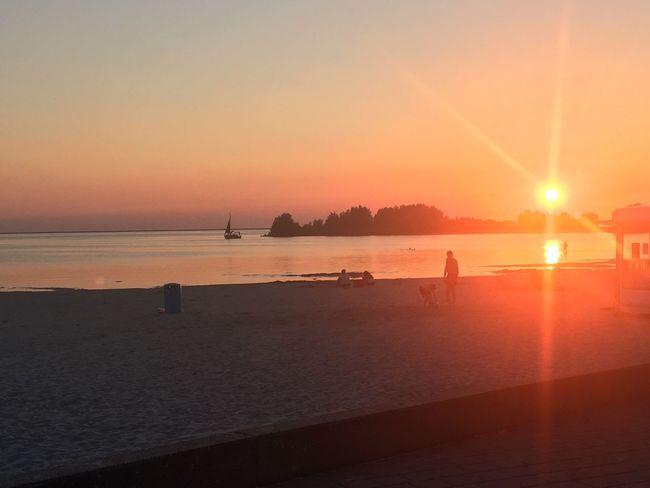 Sunset ❤️ Sunset Water Beach Sun Sea Horizon Over Water Beauty In Nature Vacations Nofilter