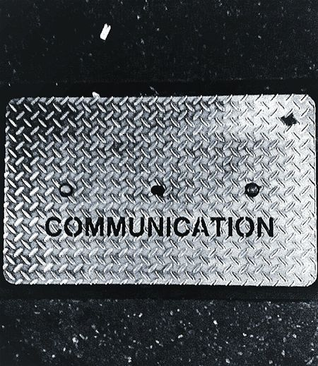 Communication Communicate Night Photography What We Have Here, Is A Failure To Communicate Sidewalk Pedestrian Path Checker Plate Diamond Plate Comms. Communications