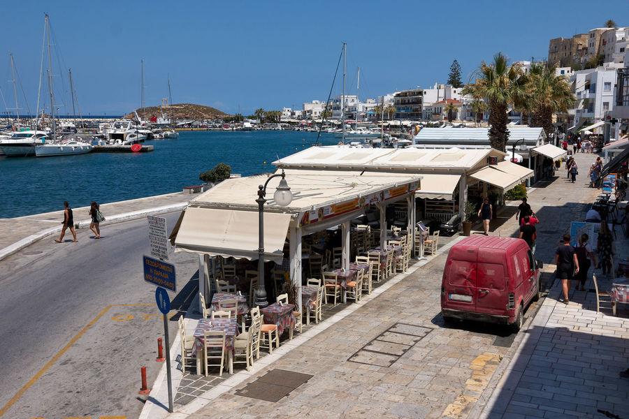 Naxos Naxos Town Architecture Building Exterior City Clear Sky Day Harbor Main Street Marina Mast Mode Of Transportation Moored Nature Nautical Vessel Outdoors Pier Port Sailboat Sea Sky Sunlight Transportation Travel Water